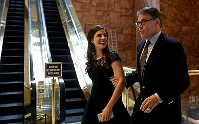 Former Texas Governor Rick Perry arrives at Trump Tower on another day of meetings scheduled for President-elect Donald Trump on November 21, 2016 in New York. AFP/TIMOTHY A. CLARY)