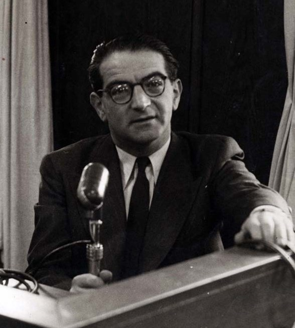 Rudolph Kasztner at his trial in Israel. (Courtesy)