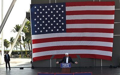 Republican presidential candidate Donald Trump speaks during a campaign rally at the Bayfront Park Amphitheater on November 2, 2016 in Miami, Florida.  (Joe Raedle/Getty Images/AFP)