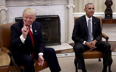Then president-elect Donald Trump with then president Barack Obama in the Oval Office, Washington DC on November 10, 2016 (Win McNamee/Getty Images/AFP)