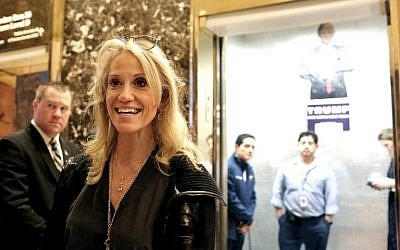 Kellyanne Conway, campaign manager for President-elect Donald Trump, arrives to Trump Tower on November 12, 2016 in New York City. (Yana Paskova/Getty Images/AFP)