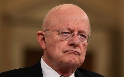 Director of National Intelligence James Clapper testifies during a hearing before the House (Select) Intelligence Committee November 17, 2016 on Capitol Hill in Washington, DC. (Alex Wong/Getty Images/AFP)