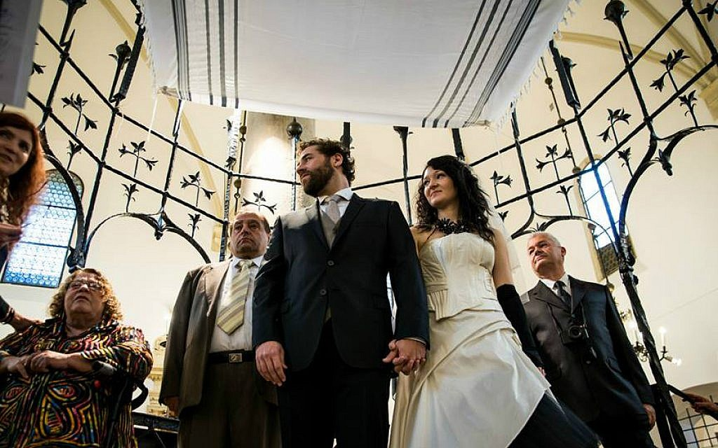 Michael Rubenfeld weds Magda Koralewska in Krakow, Poland on April 1, 2015. (Katka Reszke)