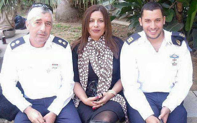 A photo of Asher and Irit Shahar with their son Omri taken before Omri's death in June 2012. (Courtesy)