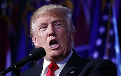 President-elect Donald Trump speaks, in the early hours of Wednesday, Nov. 9, 2016, in New York. (AP Photo/ Evan Vucci)