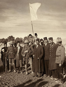 The Ottoman surrender of Jerusalem in 1917. (Public domain)