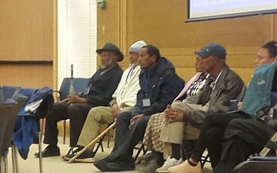 Ethiopian Israelis in the Knesset on November 29 to urge government to allow their relatives to immigrate (Marissa Newman/Times of Israel)