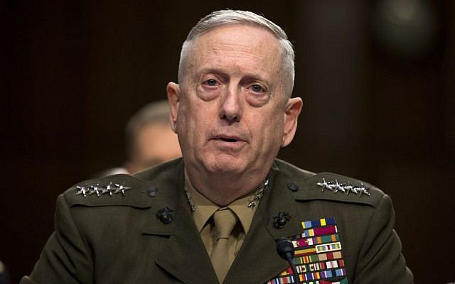 Marine Gen. James Mattis, commander, U.S. Central Command, testifies on Capitol Hill in Washington, Tuesday, March 5, 2013 (AP Photo/Evan Vucci)