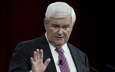Former House Speaker Newt Gingrich speaks in Oxon Hill, MD on  February 27, 2015. (AP Photo/Carolyn Kaster/File)