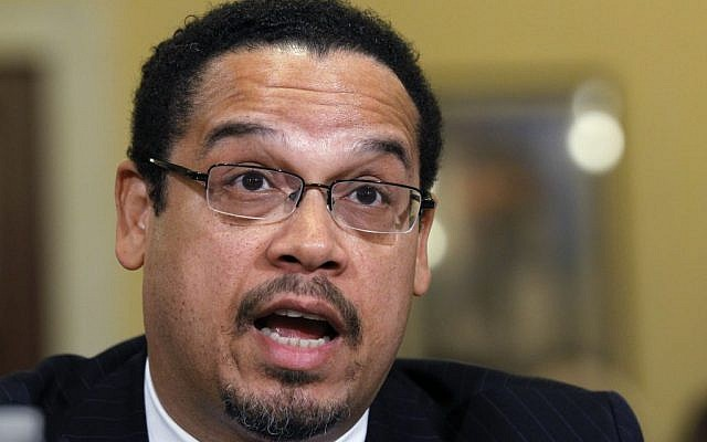 Rep. Keith Ellison, D-Minn., testifying before the House Homeland Security Committee on the extent of the radicalization of American Muslims on March 10, 2011. (AP Photo/Alex Brandon)
