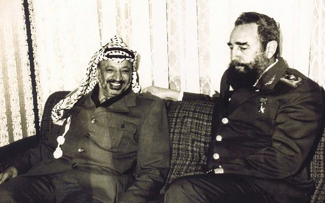An undated file photograph of late Palestinian leader Yasser Arafat, left, and late Cuban Pesident Fidel Castro, made available by the Palestinian Authority in Gaza City of the Gaza Strip. (AP Photo/Palestinian Authority)