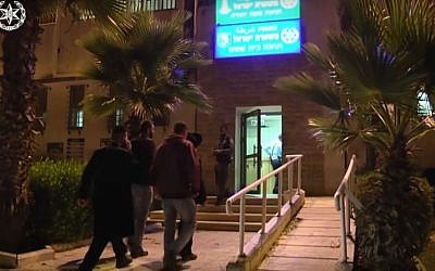 Screen capture of Beit Shemesh police station. (Youtube/Times of Israel/police spokesperson)