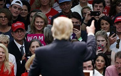 Supporters of Republican presidential candidate Donald Trump listens as he speaks during a campaign rally, Thursday, Nov. 3, 2016, in Concord, N.C. (AP/ Evan Vucci)