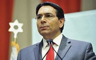 Israel's UN Ambassador Danny Danon at an anti-BDS conference held at the UN headquarters in New York on November 17, 2016. (Harel Rintzler)