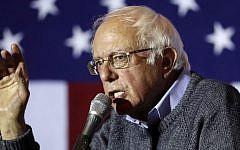 In this Nov. 3, 2016, photo, Sen. Bernie Sanders, I-Vt., campaigns for Democratic presidential candidate Hillary Clinton at the University of Cincinnati. (AP/John Minchillo)