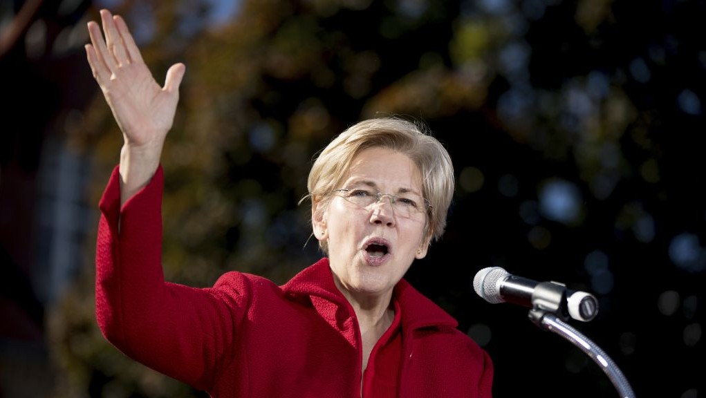 In this Oct. 24, 2016 photo, Sen. Elizabeth Warren, D-Mass. speaks at a rally for Democratic presidential candidate Hillary Clinton at St. Anselm College in Manchester, N.H. (AP Photo/Andrew Harnik, file)