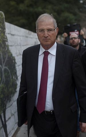 David Shimron in Tel Aviv on February 17, 2015. (Ben Kelmer/Flash90)