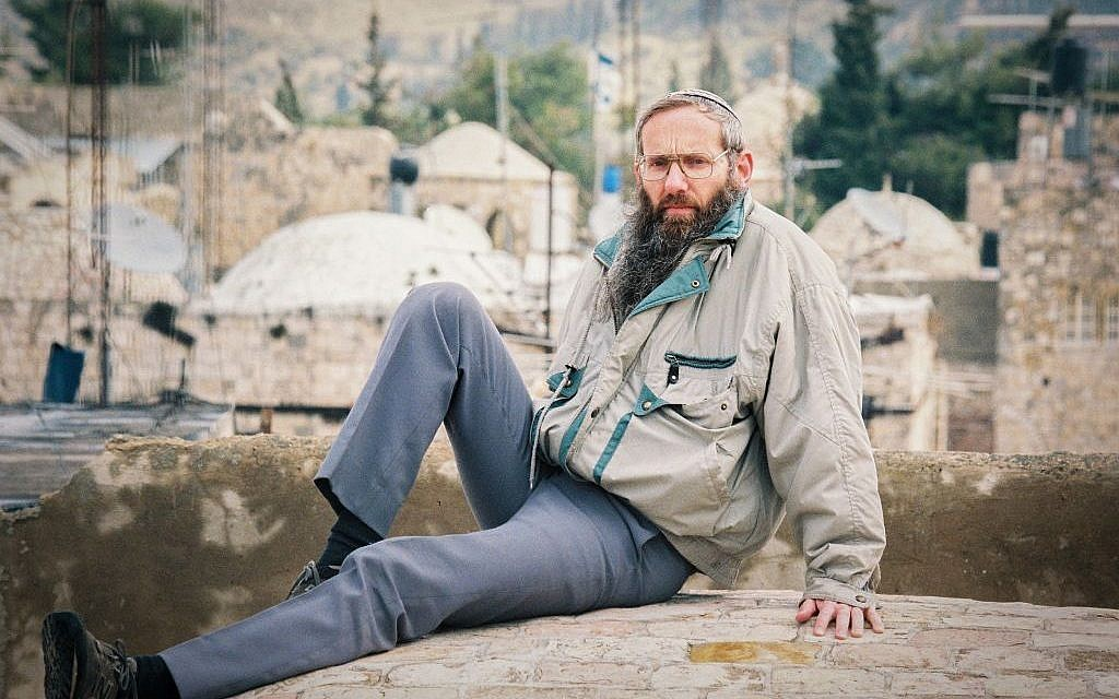 Rabbi Eyal Karim poses for a picture in the Old City of Jerusalem, March 19, 2000. (Flash90)