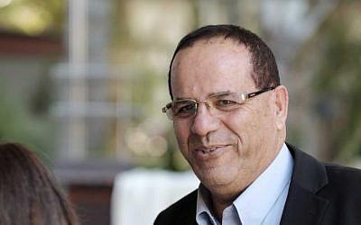 Likud parliament member Ayoob Kara arrives to a meeting of the Likud secretariat in Maccabiah Village, near Tel Aviv on August 16, 2016. (Tomer Neuberg/Flash90)