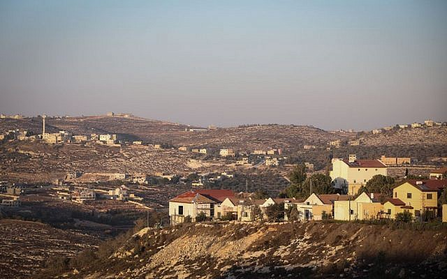 Illustrative image of an Israeli settlement in the West Bank on October 6, 2016. (Flash90)