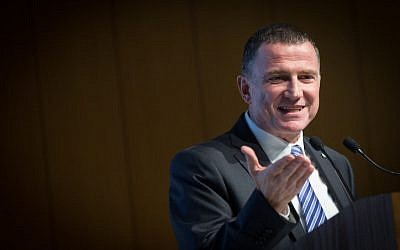 Knesset Speaker Yuli Edelstein attends a conference on the Temple Mount, held at the Israeli parliament on November 07, 2016.(Miriam Alster/FLASH90)