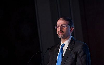 Then-US ambassador to Israel Dan Shapiro at a conference in Jerusalem, November 23, 2016. (Miriam Alster/Flash90)