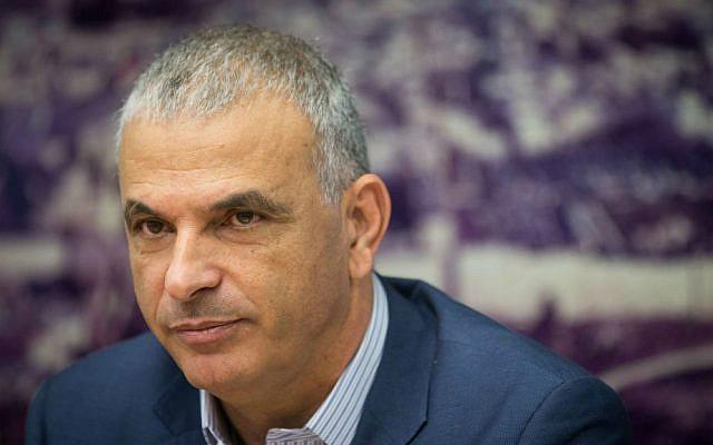 Finance Minister Moshe Kahlon at a press conference at the Finance Ministry in Jerusalem, November 30, 2016. (Yonatan Sindel/Flash90)