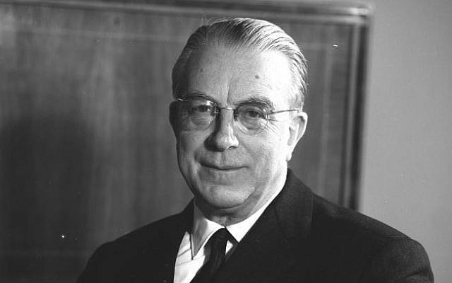 A portrait of Hans Globke, the under-secretary of state and chief of staff of the West German Chancellery, from 1953 to 1963. (CC BY-SA, Wikimedia Commons)