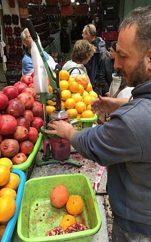 Ugly fruits and vegetables are often sold for juice at a loss. (Jessica Steinberg/Times of Israel)