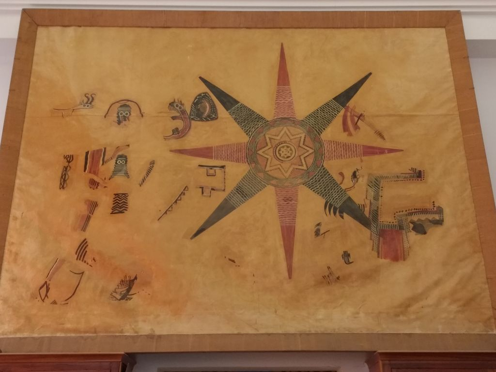 A modern reproduction of the Ghassulian Star at the Pontifical Biblical Institute in Jerusalem, on November 10, 2016. (courtesy of the Pontifical Biblical Institute)