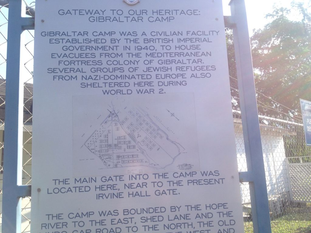 A sign informing visitors of the historical significance of the camp. (Julie Masis/Times of Israel)