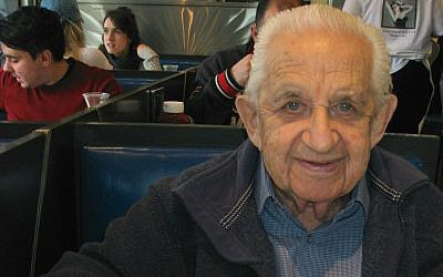 Hymie Sckolnick, now 95, opened Beauty's in Montreal's famously Jewish Mile End neighborhood in 1942 with his wife Freda. (Steve North)