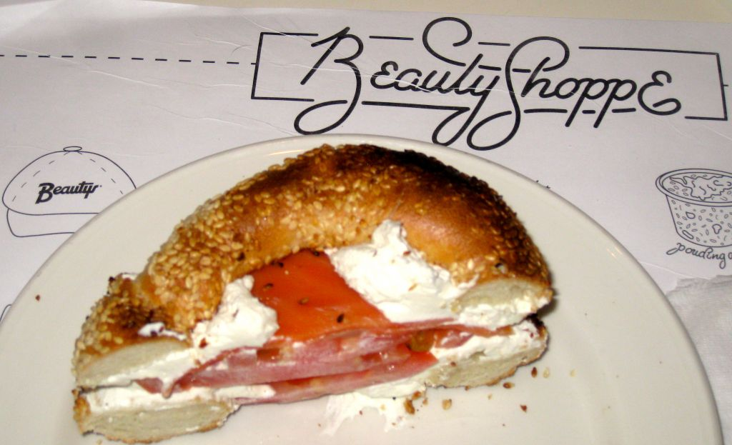 Beauty's famous bagel with lox. (Steve North)