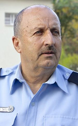 Deputy Commissioner Jamal Hakrush, who is the highest ranking Arab-Muslim in the history of Israel's police force. (Dov Lieber / Times of Israel)