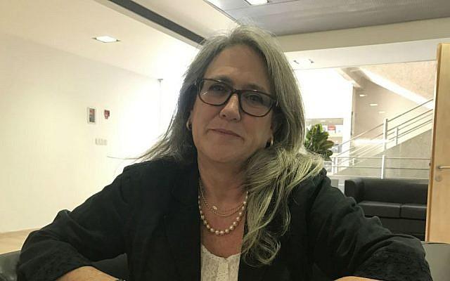 Researcher Emily Landau at the Institute for National Security Studies in Tel Aviv, Nov. 9, 2016. (Andrew Tobin/JTA)