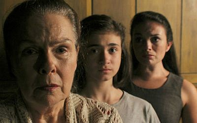 The three iterations of main character Esther in 'From Silence.' From left to right: Karen Lynn Gorney (grandmother Esther), Shannon Harrington (young Esther), Krystal Rowley (adult Esther). (Remy S./courtesy of production)