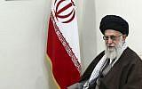 Supreme Leader Ayatollah Ali Khamenei in Tehran, Iran, Tuesday, Nov. 22, 2016. (Office of the Iranian Supreme Leader via AP)