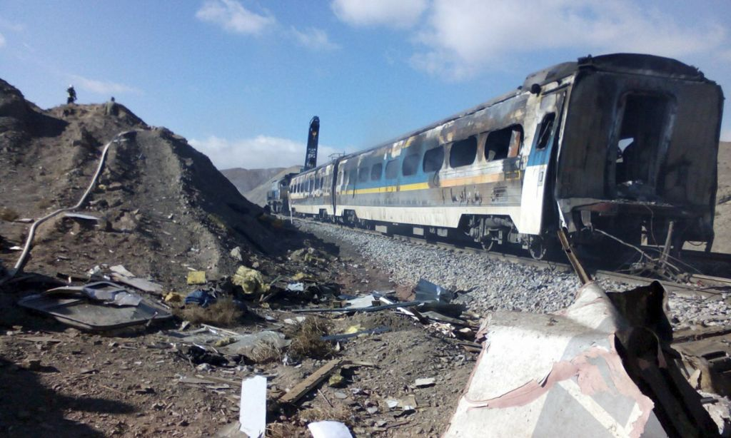Iran state TV: Death toll in train crash rises to 36   The Times of ...