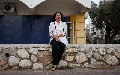 Israeli Arab social worker Samah Salaime in Lod, central Israel, November 3, 2016. (AP Photo/Dan Balilty)