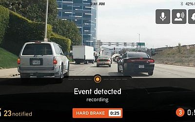 Nexar's network detects road event (Courtesy)