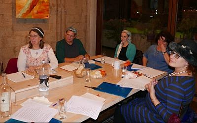 Students in PICO Jerusalem offices attending a writing workshop offered by WriteSapce Jerusalem (credit: Nadia Jacobson)