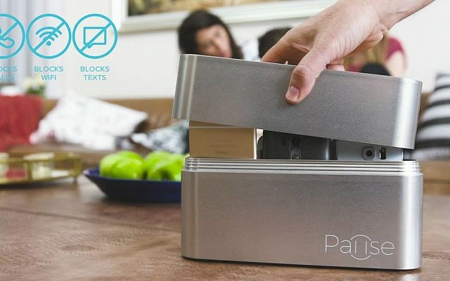 The Pause box, designed to entice you to put your phone away for a little while (Courtesy)