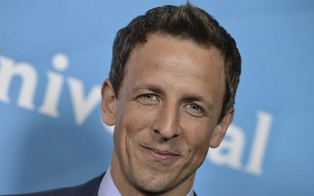Seth Meyers at the NBC 2014 Summer TCA held at the Beverly Hotel in Beverly Hills, Calif, July 13, 2014. (Richard Shotwell/Invision/AP)