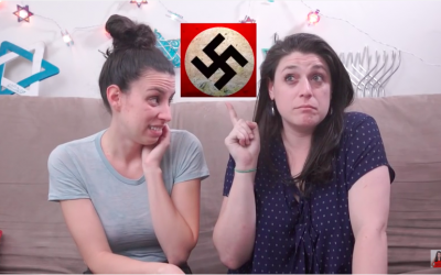 "YouTube screenshot from ""Your Two Jewish Friends Tell You How Trump Is Like Hitler"""