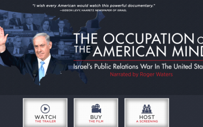 "A screen shot from the website of the documentary ""The Occupation of the American mind: Israel's public relation war in the United States"" at http://mediaed.org/occupationmovie"