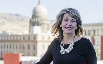 Melinda Smyser, one of Idaho's four presidential electors, poses for a portrait in Boise, Idaho, Thursday, Nov. 17, 2016. (AP Photo/Otto Kitsinger)