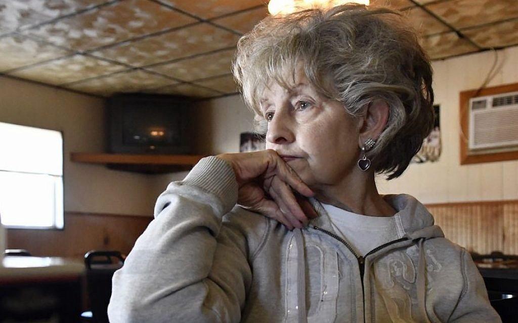 Judy Pennington, a resident of Elliott County listens to a question, n Sandy Hook Ky, Nov. 10, 2016. (AP/Timothy D. Easley)