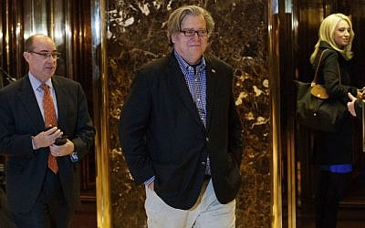 Stephen Bannon leaves Trump Tower in New York on November 11, 2016. (AP/Evan Vucci)