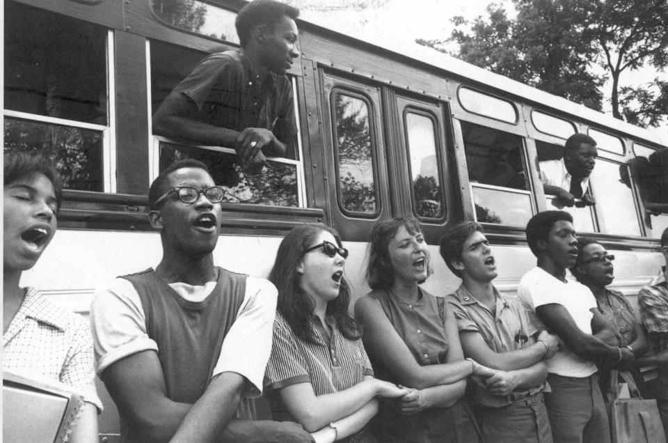 Protesters form a human chain during the Freedom Summer of 1964. (Courtesy Avalon Films)