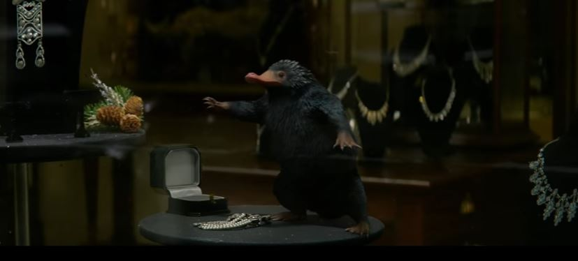 "Scene from the latest Harry Potter spin-off ""Fantastic Beasts and Where to Find Them"" (Screen capture: YouTube)"